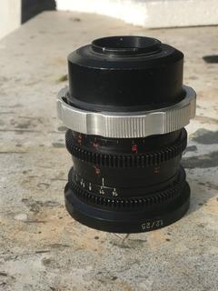 Lente Cine Montura Pl Con Adaptador A Micro 4/3 25mm 1.2
