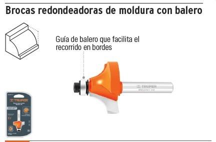 Broca Para Router, Redondeadoras De Moldura Con Balero 11472