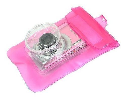 Bolsa Estanque Rosa Câmera Capa Case Prova D