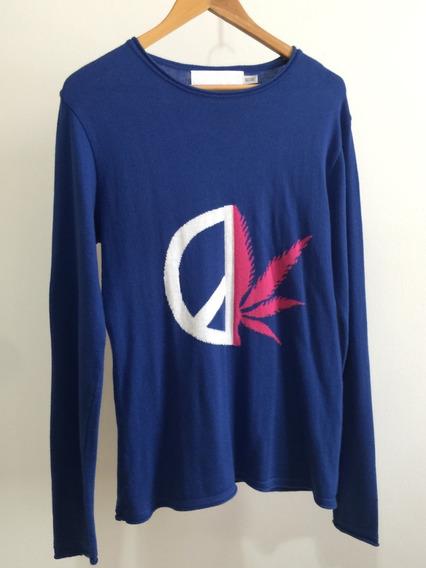 Tricot/suéter Sergio K Peace - Azul - Tamanho M