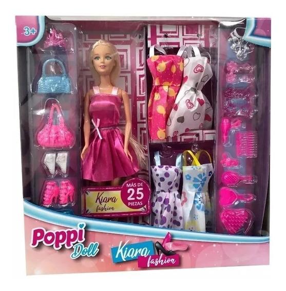 Muñeca Kiara Fashion Articulada Con Accesorios
