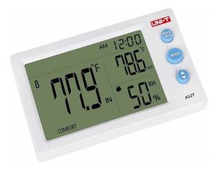 Uni-t Termometro Higrometro Reloj A12t Temperatura Humedad