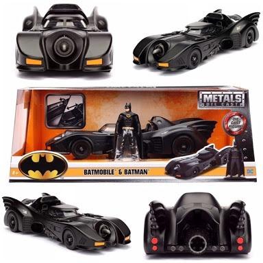Miniatura Batmovel - Batmobile E Batman- Esc:1/24