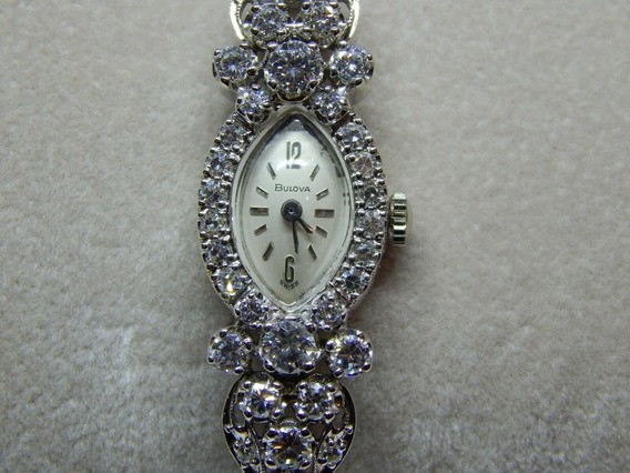 Reloj Bulova Oro 14k 2.5 Ct Diamantes Damas Rolex Cartier