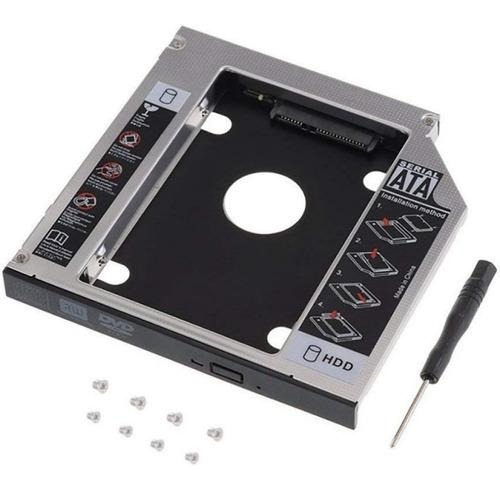 Imagen 1 de 1 de Caddy Adaptador Notebook Disco Sata Hdd Ssd 9,5mm 2do Disco