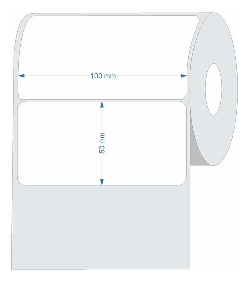 10 Rolos Etiqueta Couche 100x60 (mm) 10x6 Cm