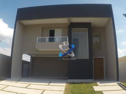Sobrado Com 4 Dormitórios À Venda, 207 M² Por R$ 850.000,00 - Condomínio Terras Do Vale - Caçapava/sp - So0458