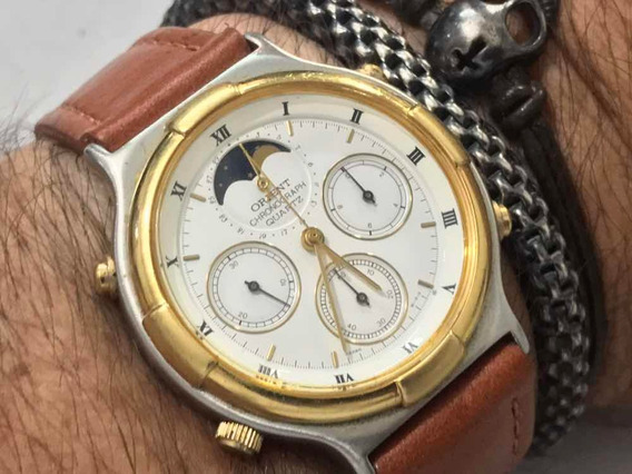 Orient Chronograph Quartz Fase De Lua Made In Japan