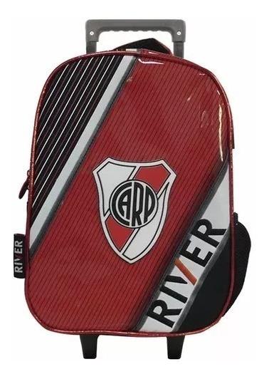 Mochila Con Carro Jardin 12p Futbol River Plate Ri137