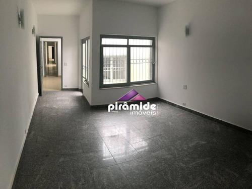 Casa Com 3 Dormitórios Para Alugar, 250 M² Por R$ 3.000,00/mês - Centro - São José Dos Campos/sp - Ca6004