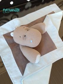 Naninha Hipopótamo Soft Azul E Cinza