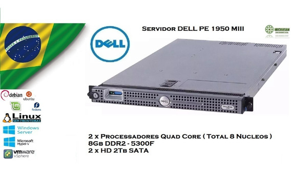 Servidor Dell Pe1950 M3 2 Quadcore + 8gb Ddr2 + 2 X 2tb Sata