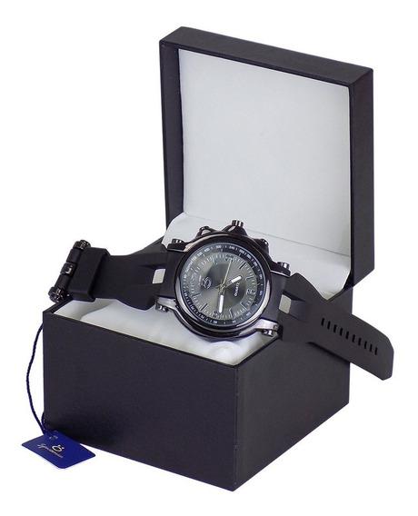 Relógio Masculino Preto Spaceman Original Exclusivo + Caixa