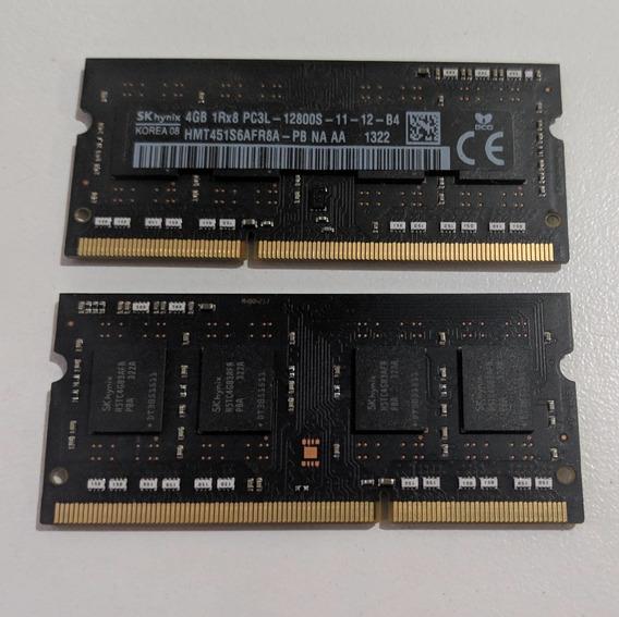8 Gb Ram (2x4 Gb) So-dimm Notebook Sk Hynix Ddr3