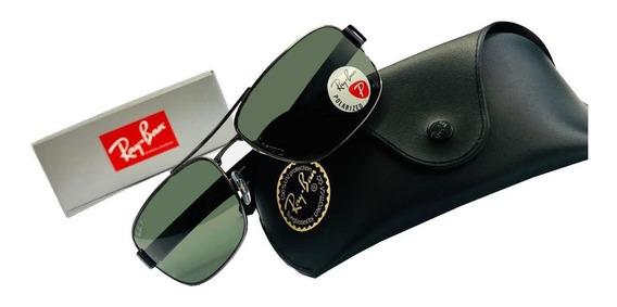 Oculos De Sol Ray-ban Rb3522 Cinza/g15 Polarizado