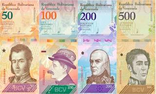 Billetes Bolivares Venezuela