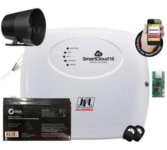 Kit Alarme Sem Fio Jfl 8 Sensores - Acesso Via Aplicativo
