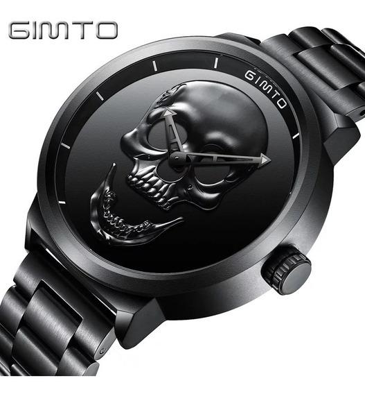 Reloj Gimto De Lujo Cráneo Hombre Elegante