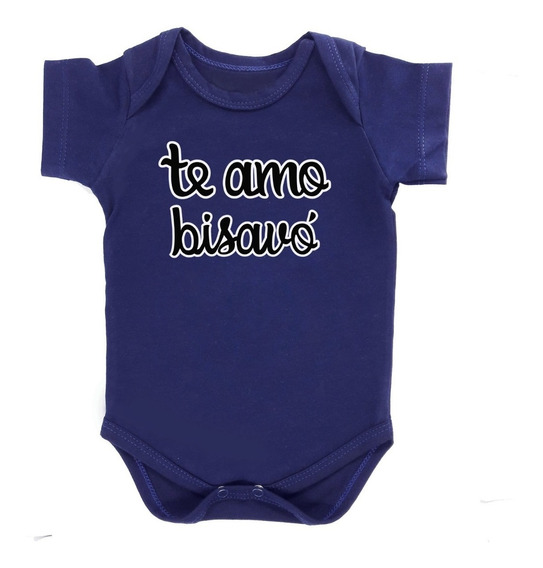 Body Frase Bebê Te Amo Bisavó Para Presentear Varias Cores