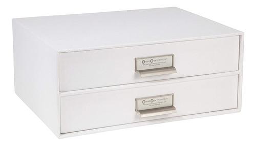Imagen 1 de 6 de Bigso Caja Para Archivos Con 2 Cajones. , Material Reciclado