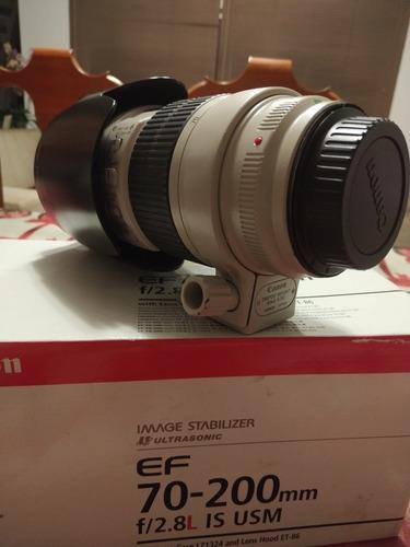Lente Canon 70-200 F/2.8 Is Usm Com Caixa E Bag.