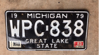 Placa De Carro Antiga Michigan 1979