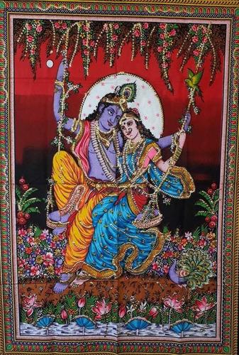 Imagen 1 de 1 de Tapiz Radha Krishna