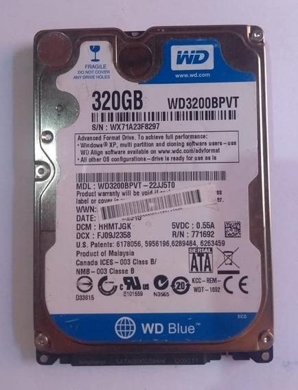 Hd Notebook 320gb (funcionando 100%)