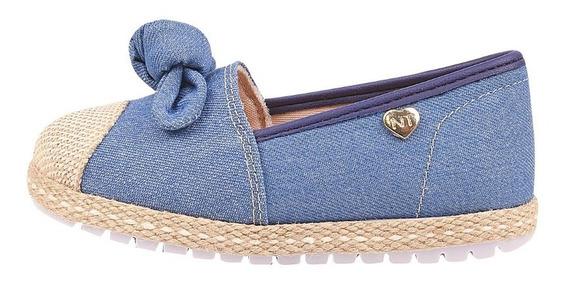 Alpargata Infantil Nathielly Lacinho Jeans