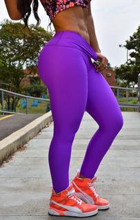 Lycra Leguins Deportiva Para Dama Color Violeta- Morado