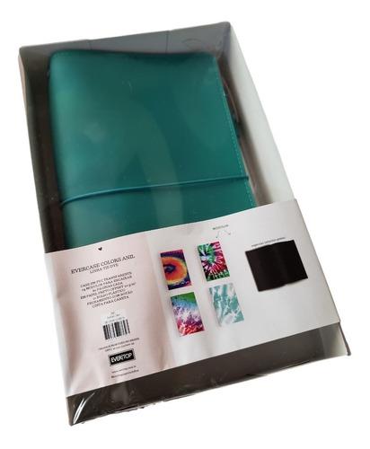 Planner Case Color Azul Tie Dye + Caneta Branca- Evertop