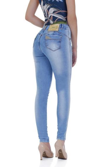 Calça Jeans Levanta Bumbum Zigma Brilho Azu