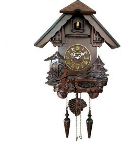 Frete Grátis Relógio Parede Madeira Cuco Grand Herweg 530003