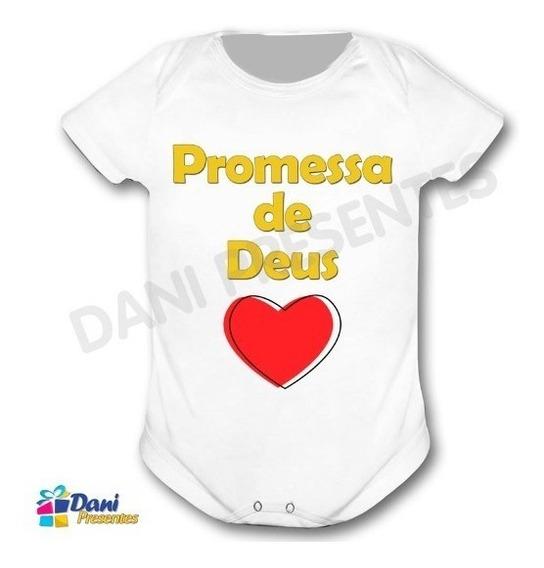 Body Promessa De Deus - 100% Algodão