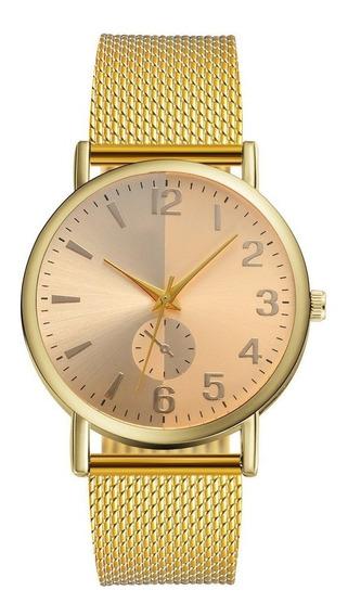 Relógio Dourado Gold Lvpai Feminino De Luxo A Pronta Entrega