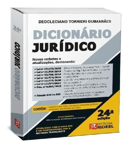 Dicionario Juridico 24ª Edição (2020)