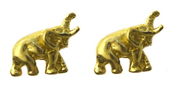 Brinco Elefante Segundo Furo Em Ouro Amarelo 18k 750 J19865