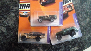 Hotwheels Matchobox Modelos Militares, Nuevos!