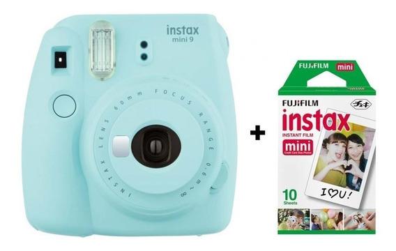 Câmera Instantânea Fujifilm Instax Mini 9 - Azul Água