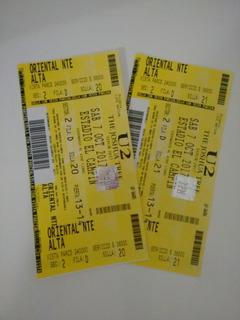 Boletas Concierto U2 Oriental Nte Alta