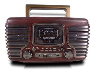 Parlante Vintage Radio Am/fm Usb Memoria Micro Sd Bluetooth