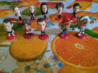 Cabezones Coca Cola Futbolistas Y Artistas Lote De 10 Piezas
