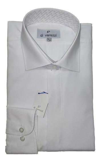 Camisa Vestir Divarezzi Lisa Cartera Oculta Lila Ideal Para Usar Con Corbata Muy Fina Confeccion
