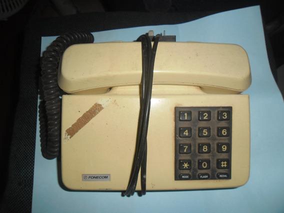 Telefone Antigo De Linha Com Teclado Funcionando Anos 80