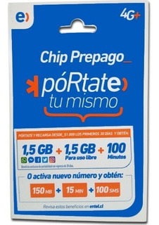 Chip Entel 150mb+15min+100sms