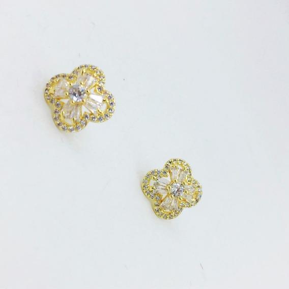 Arete aretes 333 Gold 1 par 2,5 mm con circonita unisex damas hombres