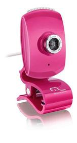 Webcam Facebook Com Microfone Usb Rosa - Wc048 Outlet