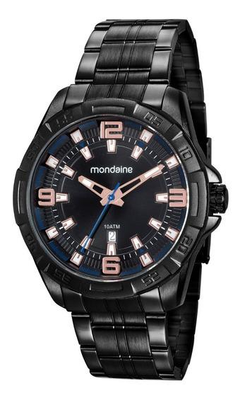 Relógio Masculino Mondaine 53705gpmvpe2 Preto Calendário