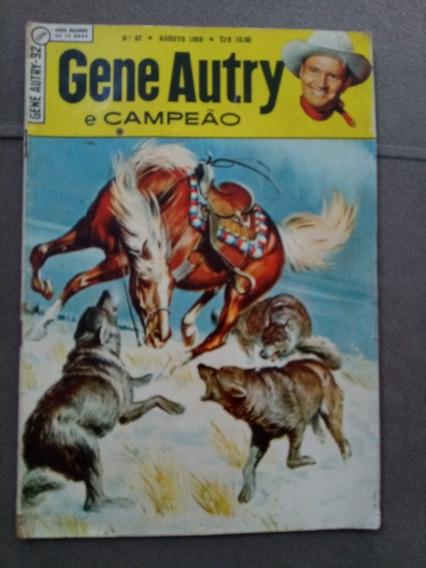 Gene Autry E Campeão N.°92 Agosto 1959 Ebal Excelente