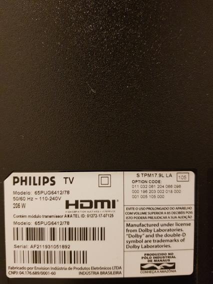 Tv Philips Led 65 Danificada